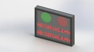 IT2SL – Indicador de Tarifas com duas linhas e Semáforo de liberação Slim – 24VDC