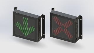 Semáforo de Marquise Seta e X – 100mm – 110/220Vac